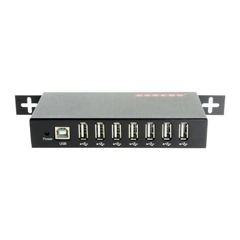 Usb 2 0 7 Ports Hub usb 2 0 7 port rugged metal din rail mount hub w power adapter