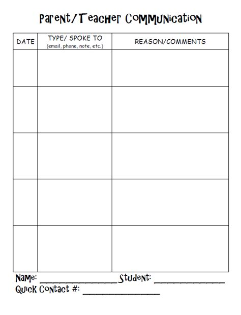 The Teaching Thief Teacher Binder And B2s Freebies Parent Communication Templates