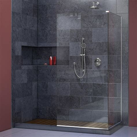 glass bathroom panels dreamline linea 30 in x 72 in and 34 in x 72 in semi
