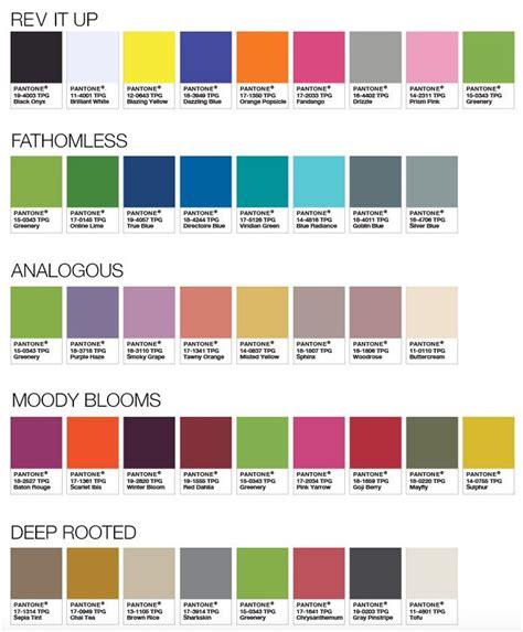 pantone palette 2017 las 25 mejores ideas sobre carta pantone en pinterest