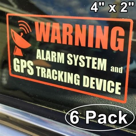 Car Alarm Stickers