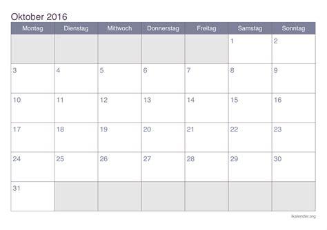 Kalender 2016 Zum Ausdrucken Kalender Oktober 2016 Zum Ausdrucken Ikalender Org