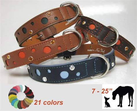 awesome collars awesome leather collar 7 25 inch 21 colors