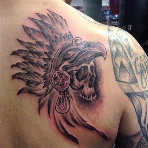aztec skull tattoo aztec skull warrior tattoos designs www imgkid the