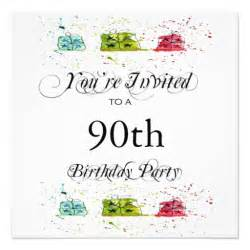 personalised 90th birthday party invitations 13 cm x 13 cm