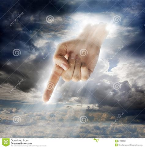 signs of divine intervention in divine intervention stock photo image of down pointing