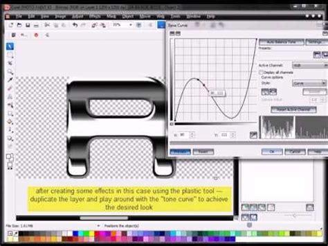 corel draw x5 effects basic chrome text effect with coreldraw x5 youtube
