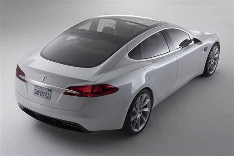 tesla model s electric sedan prototype has a touch
