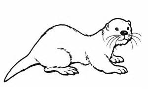 Otter Coloring Pages otter printable coloring pages