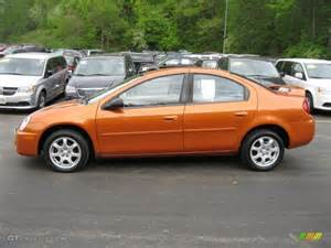 orange blast pearlcoat 2005 dodge neon sxt exterior photo