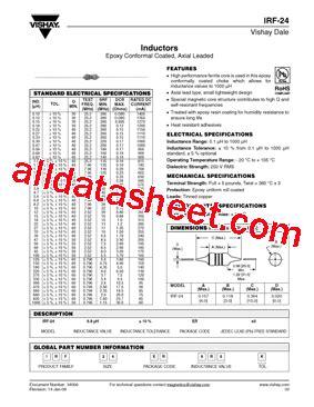 vishay inductors datasheet irf 24 08 datasheet pdf vishay siliconix