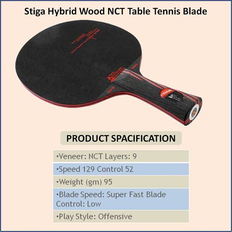Stiga Hybrid Wood Nct stiga hybrid wood nct table tennis blade buy stiga