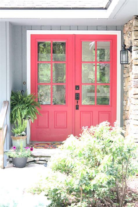 Pink Front Door Woven Home Pink Front Door Valspar Berry Blush