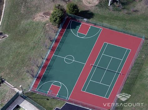 court basketball tennis courts backyard