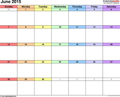 printable monthly calendar for june 2015 june 2015 calendar printable free
