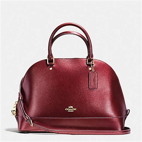 Tas Coach Original Coach Kelsey Small Studded Border Black M coach f56191 satchel in metallic crossgrain leather imitation gold metallic cherry