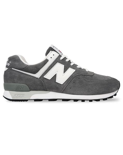 new balance grey sneakers new balance m576 made in uk grey suede sneakers in gray