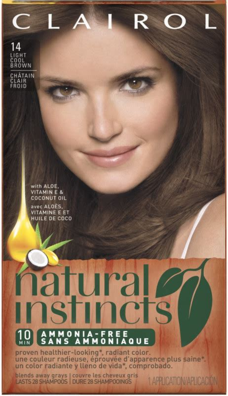 lorenzo brown hair color clairol clairol natural instincts 14 tweed light ash