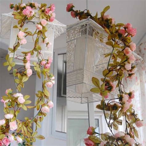 hanging garland artificial flowers  wedding home