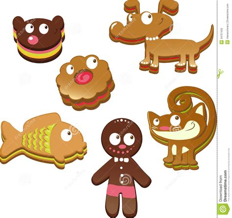 gingerbread animals stock image image of isolated