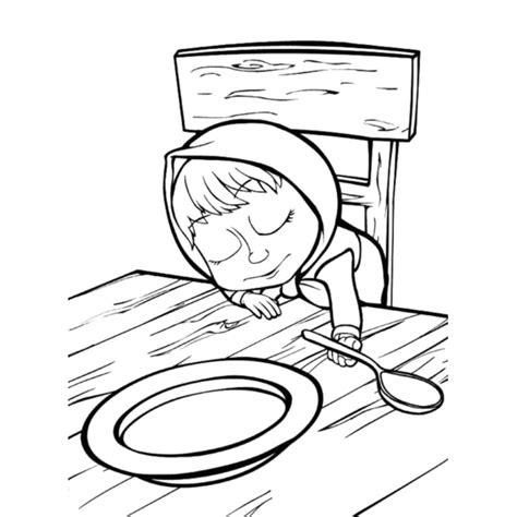 tavolo disegno bambini disegno di masha che dorme sul tavolo da colorare per