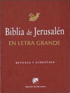 jerusaln un libro 8416295018 libro biblia de jerusalen en letra grande descargar gratis pdf