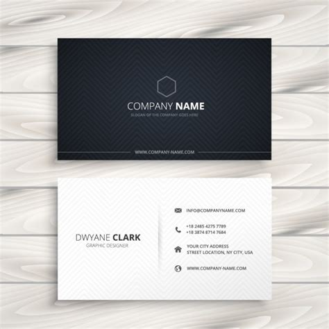 simple business card black and white vector free download