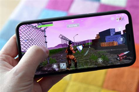 fortnite like a fortnite on an iphone x is an exciting look at the future