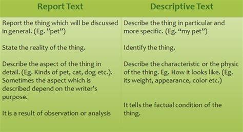 Or Text Report Vs Descriptive Text D Stories