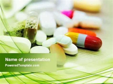Medical Pills And Tablets Powerpoint Template By Poweredtemplate Com Youtube Pills Powerpoint Template