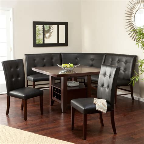 round kitchen table with bench seating dining set curved dining bench for sit comfortably