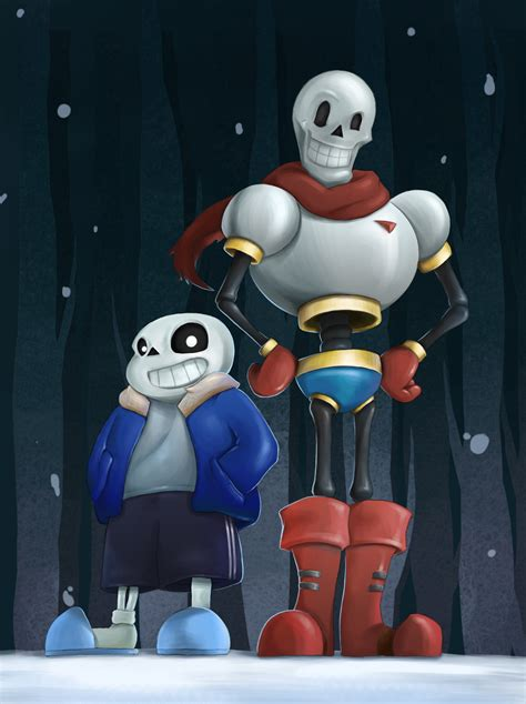 undertale fan no undertale fanart sans and papyrus by kurareo on deviantart
