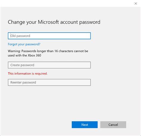 windows reset account password how to reset or change microsoft account password in
