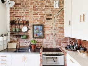 Kitchen Wall Ideas by 28 Exposed Brick Wall Kitchen Design Ideas Home Tweaks