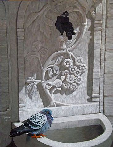 rock dove painting art by james kiesow