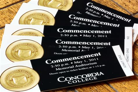 the concordian commencement tickets in high demand for