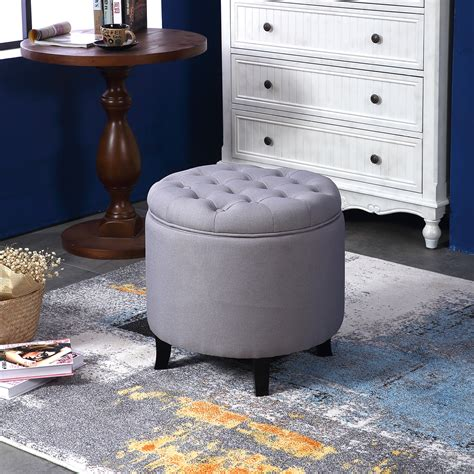 buttoned ottoman coffee table elegant fabric tufted button ottoman round footstool