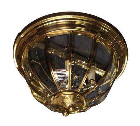 brass flush mount two arm wall sconce olde things
