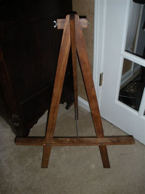 easel handmade tabletop size artwork stand wedding