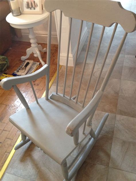 shabby chic rocking chair painted in annie sloan paris