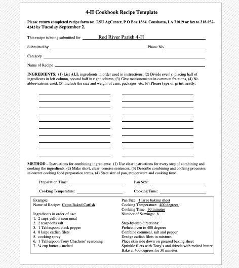 14 recipe book templates free word templates