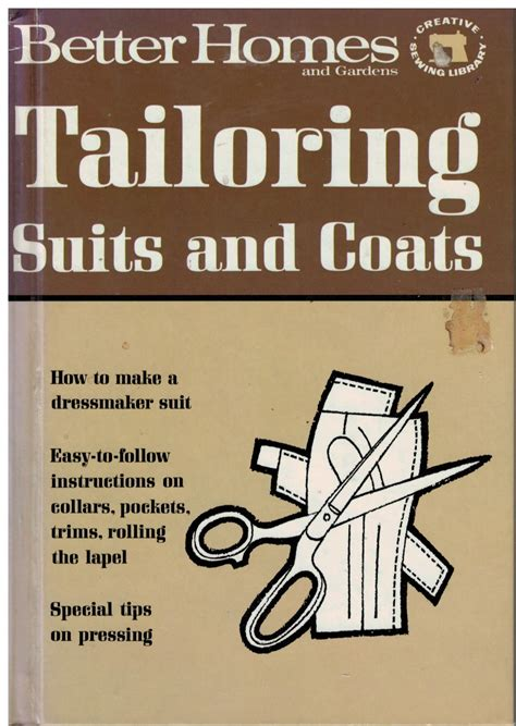 pattern sewing book better homes and gardens sewing book tailoring suits and
