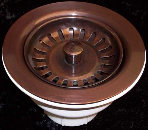 copper kitchen sink drain solid copper kitchen drains and disposal flanges for