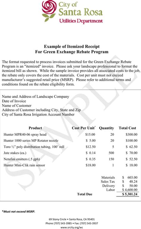 template for itemized receipt for lasik itemized receipt template for free formtemplate
