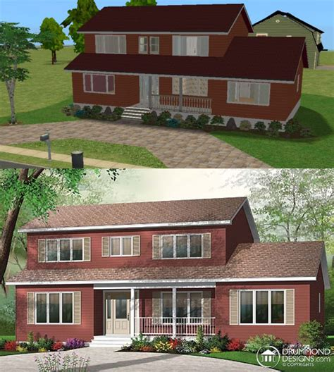 House Plans Country Style mod the sims american way 71
