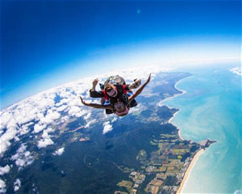 Skydiving Cairns Mission Beach Tandem Skydive Up To