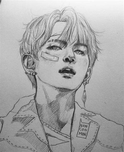 Kpop Sketches by W O Bandaid To Draw Bts Fanart And Kpop