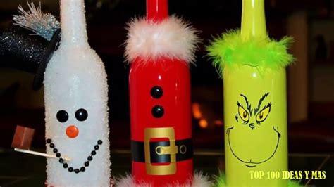 imagenes de navidad para decorar botellas top 100 ideas de botellas decoradas para navidad ideas