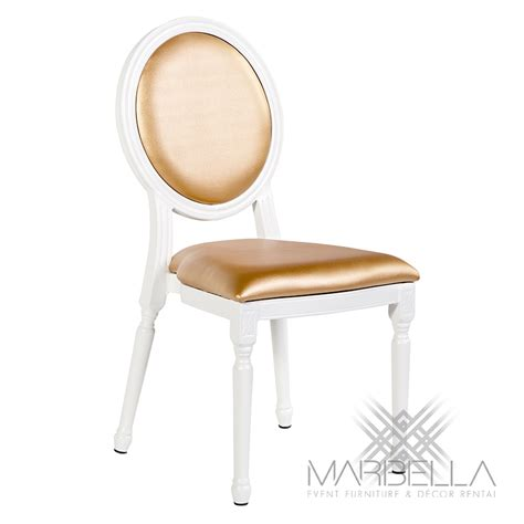 White And Gold Chair by Chair Gold Chateau Louis Marbella Event Furniture And