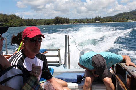 napali coast boat tours october ufo boat napali coast tour kauai surf company